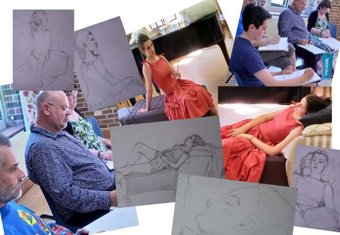 Great drawing at the 1950's theme session